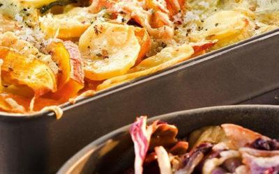 Rezept der Woche: Kartoffel-Kürbisgratin mit gebratenem Radicchio