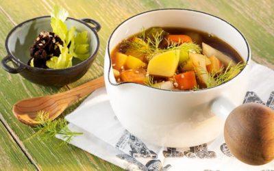 Rezept der Woche: Basische Gemüsesuppe mit Sellerie, Fenchel, Möhren und Kartoffeln