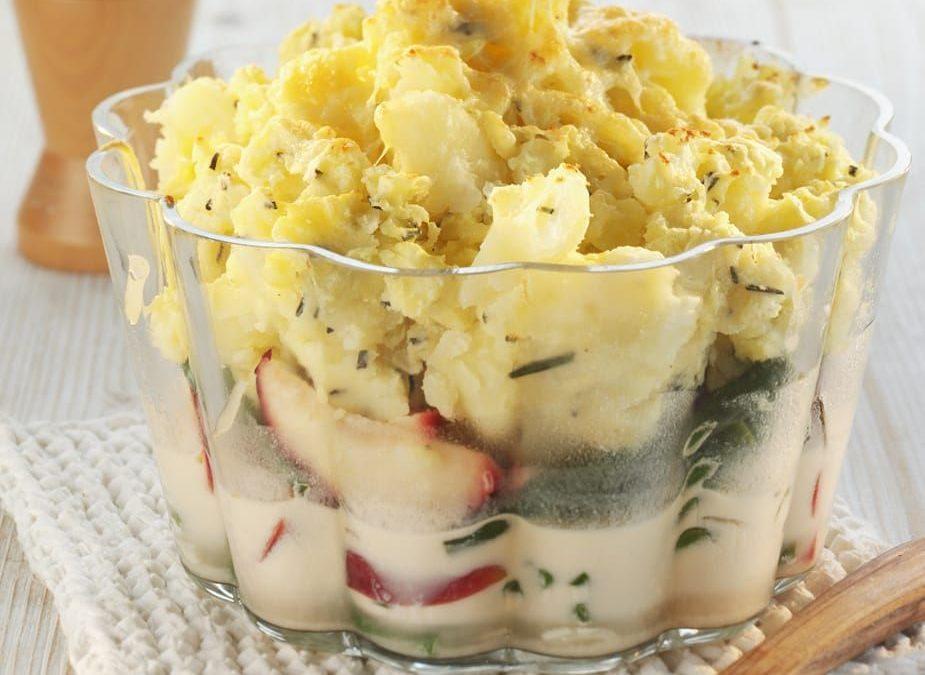 Rezept der Woche: Bohnen-Apfelgemüse unter einer Kartoffel-Rosmarinhaube