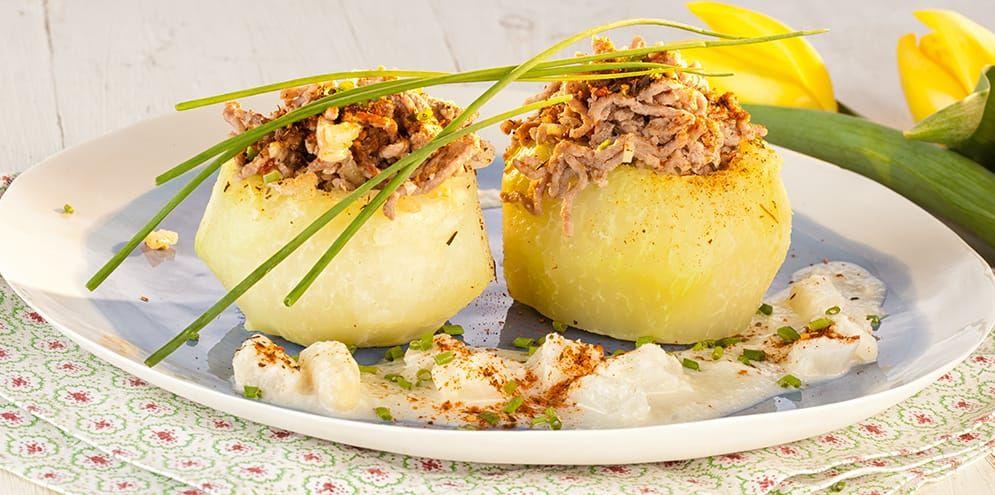 Rezept der Woche: Gefüllte Kohlrabi mit Spargel-Zitronen-Schaum